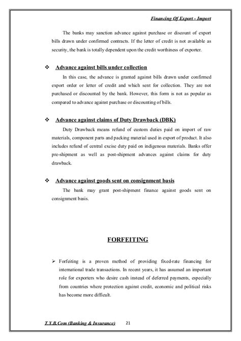 Idbi Bank Letter Of Credit ex im financing