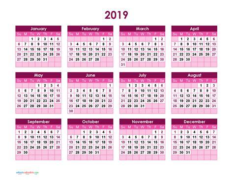 yearly calendar  printable full year calendar  theme purple  printable