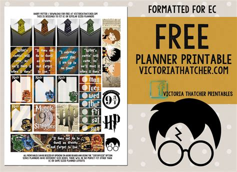 Harry Potter Printables harry potter printable thatcher