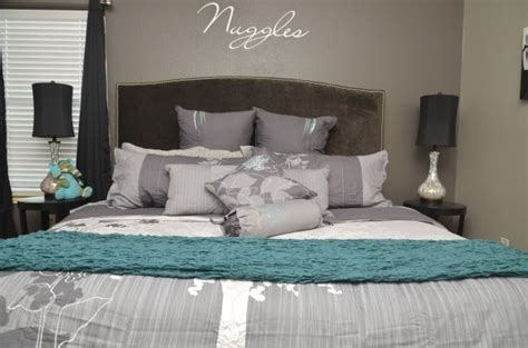 Turquoise And Gray Bedroom Decor by Grey White And Turquoise Bedroom Photos And