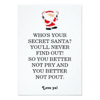 secret poems for secret santa poem card ideas