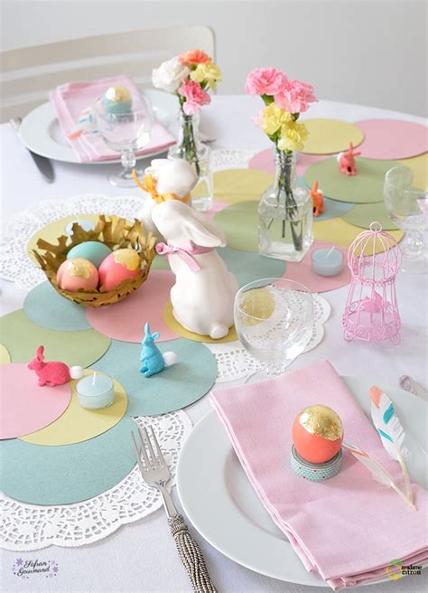 decoration table de paques diy table de p 226 ques flow deco paques table