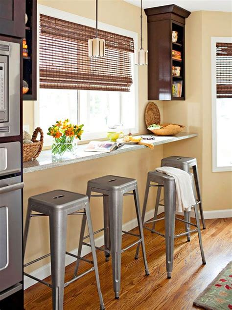 Kitchen Bar Against Wall Solutions For Small Spaces