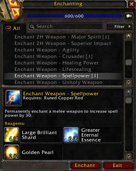 Wow Enchanting Mats enchanting guide spellpower enchantments for fast