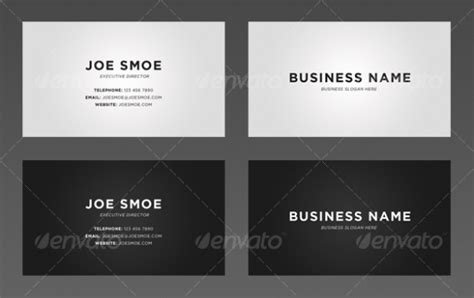Simple Business Card Website Template by Cardview Net Business Card Visit Card Design