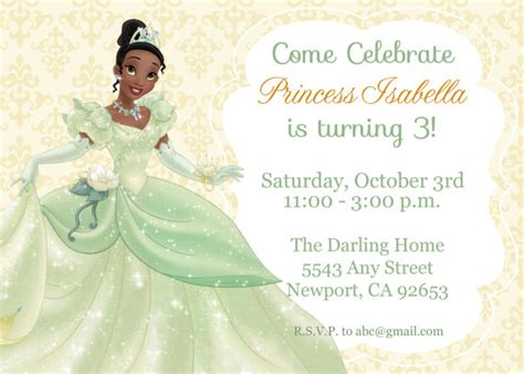 princess and the frog invitations printable princess and the frog birthday printables raising tween and