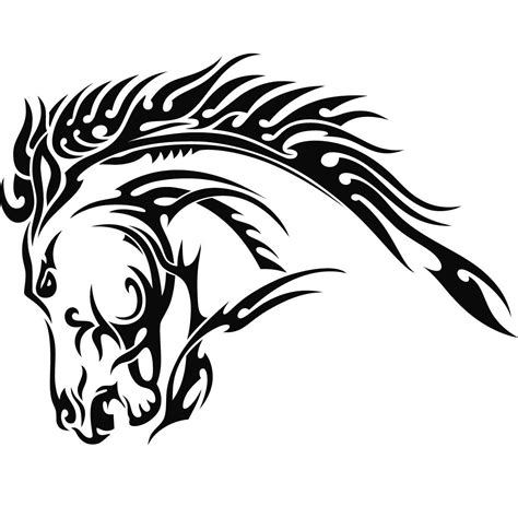 tribal horse head tattoos again tribal design photo 1 twoje