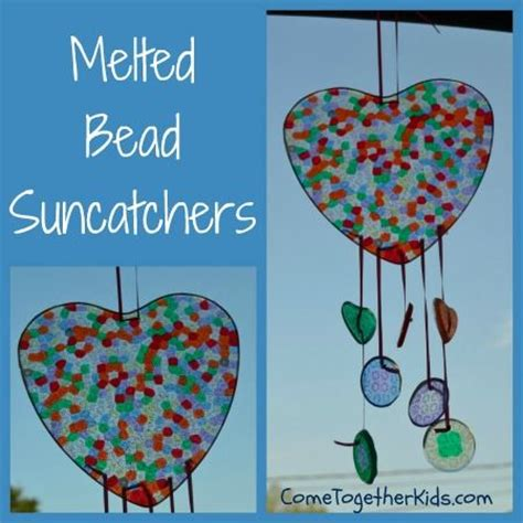 melt together come together melted bead suncatchers the had