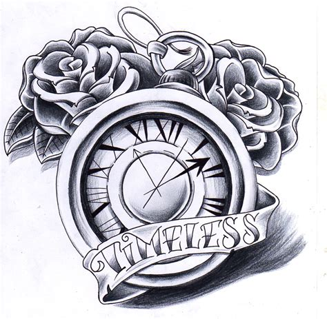 clock and rose tattoo designs 30 simple clock tattoos