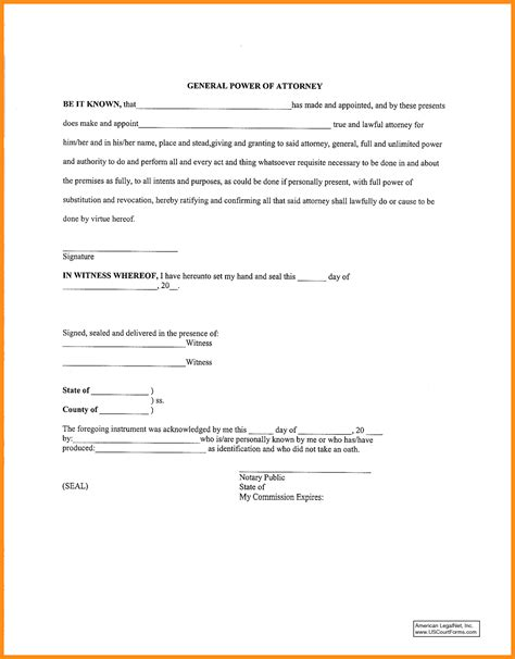 power attorney template free printable durable power of attorney template 50 free