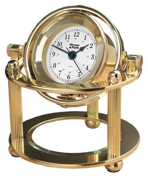 Office Desk Clocks Weems And Plath Solaris Desk Clock 790500