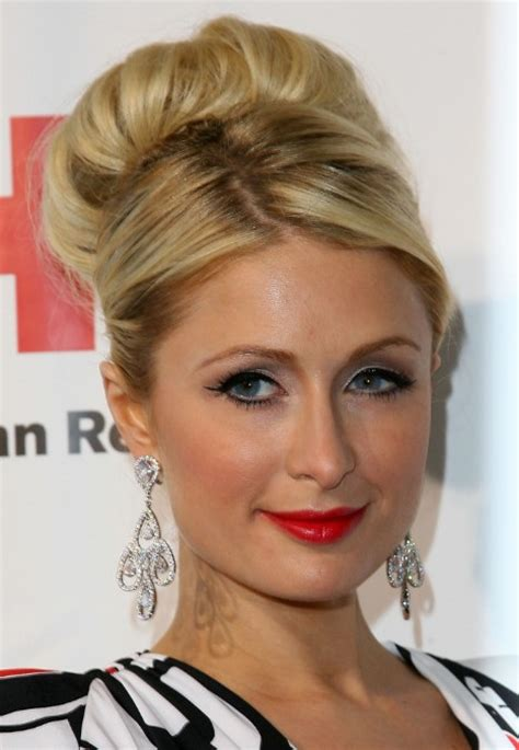 updo hairstyles high paris hilton sophisticated high bun wedding updo hairstyle