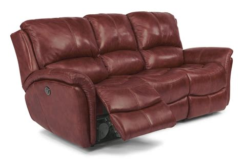 Motion Sofas Recliners Flexsteel Dominique Casual Reclining Sofa With Power Motion And Folded Pillow Arms Olinde S