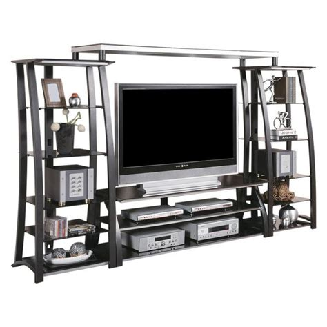 contemporary metal wall contemporary metal and glass wall unit furniture