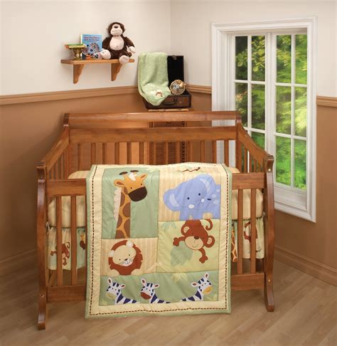 Jungle Nursery Bedding Sets Total Fab Jungle Theme Baby Bedding
