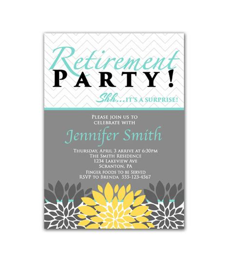 surprise retirement party invitation wording images