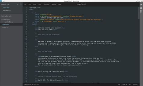 themes brackets editor brackets from adobe open source editor for web designers