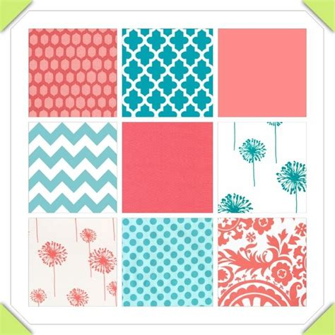 teal and coral baby bedding coral teal gray baby bedding custom crib bedding 2