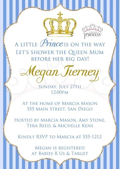Prince Baby Shower Invitations by Prince Printable Baby Shower Invitation