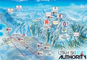 Utah Ski Resorts Map by Utah Resorts Utah Ski Authority