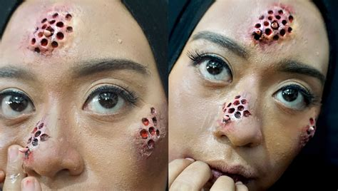 tutorial makeup natural untuk kulit sawo matang trypophobia sfx makeup tutorial by inivindy youtube