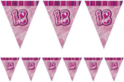 Girlande 18 Geburtstag by 18 Geburtstag Wimpel Girlande Pink