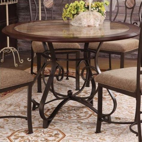 Cherry Oak Dining Table Acme Furniture Barrie Cherry Oak Bronze Dining Table Ebay