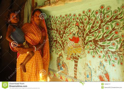 painting free version madhubani painting in bihar india editorial photography