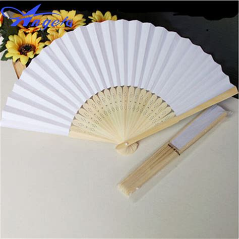 personalized folding fans for weddings 2015 wholesale 30pcs lot custom ladies wedding hand fans