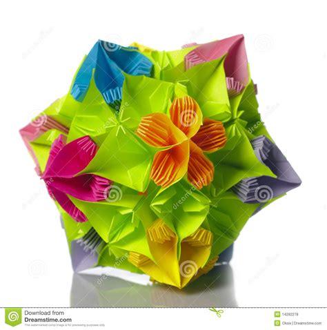 imagenes de flores origami flor do kusudama de origami foto de stock imagem 14282278