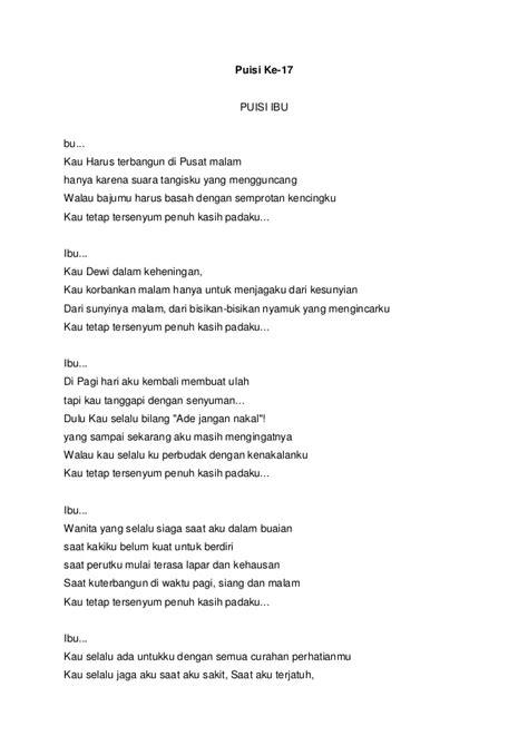 membuat puisi judul ibu kumpulan 30 puisi tentang wanita