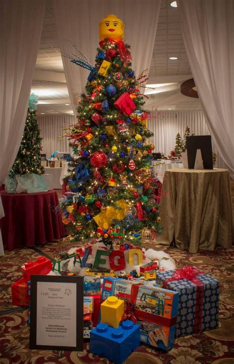 lego themed christmas tree auctioned for charity
