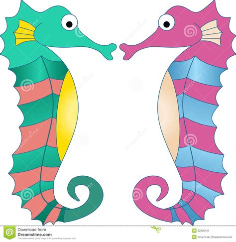 Colourful Basic Clip colorful seahorses stock vector image 52292121