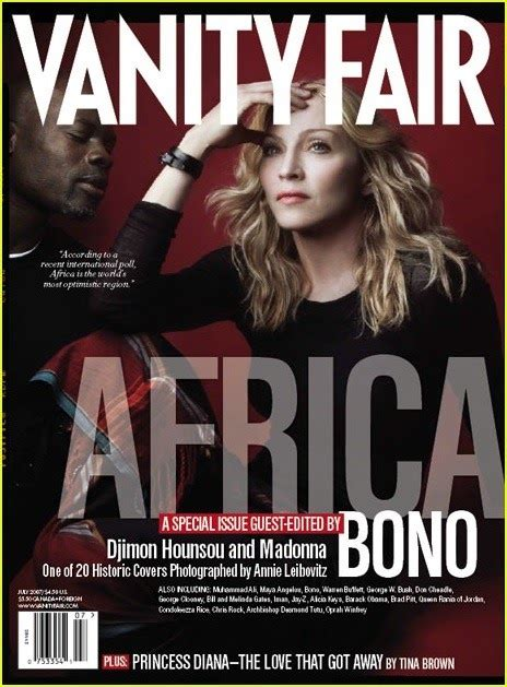 Bonos 20 Vanity Fair Collectable Covers by Magazine Cover Vanity Fair Africa Issue