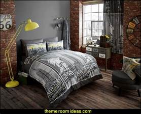 New York City Themed Bedroom Decorating Theme Bedrooms Maries Manor Urban Theme