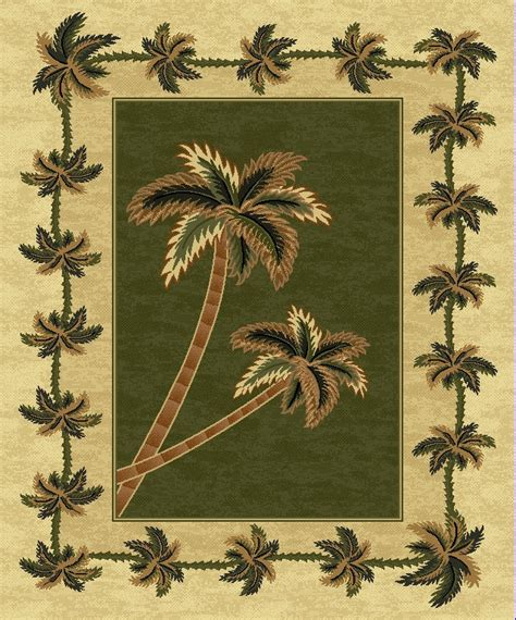palm tree area rugs green bahamas palm tree rug 2318 bahamas rugs
