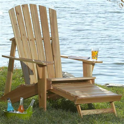 Patio Chair Designs by Adirondack Chair With Footrest Woodworking Plan From Wood