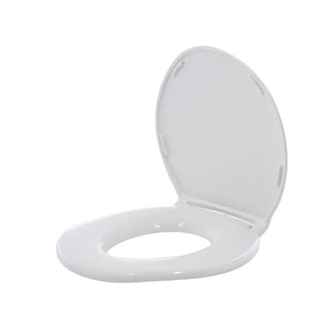 big standard elongated closed front toilet seat with