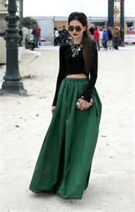 Polka Dot Duvet Covers La Diva Pleated Maxi Full Skirt In Green Retro Indie