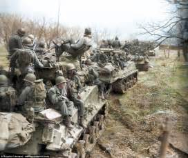 the color war stunning colorized photos from the korean war daily mail