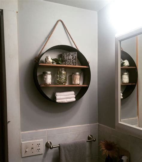 rustic bathroom wall decor rustic bathroom shelf from hobby lobby in love my