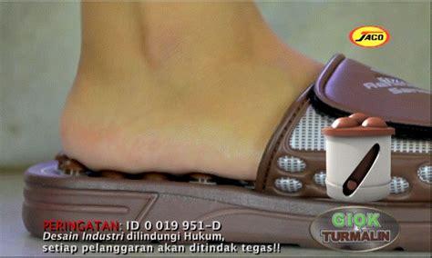 Sehat Dan Murah Sandal Refleksi Sandal Kesehatan Kayu 1 sandal giok terapi terbaru generasi ke 2 asli kozuii jaco tv sarana herba