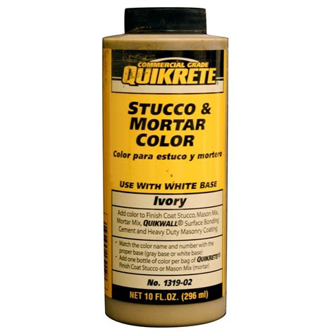 quikrete 10 fl oz stucco and mortar ivory 131902 the