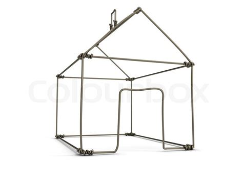 wire houses model house of wire isolated on white stock photo colourbox