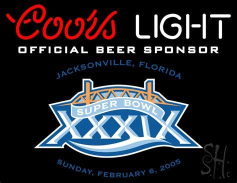 coors light beer sign coors light superbowl 39 beer neon sign beer neon signs