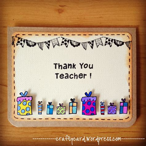 Teachers Day Card Handmade - m202 thank you
