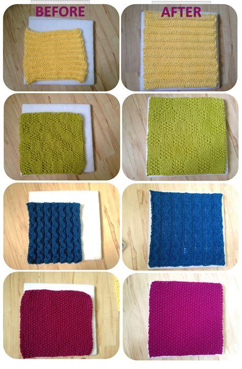 how to block knitting tutorial blocking acrylic yarn a modicum of ingenuity