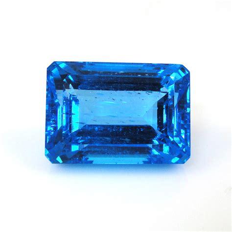 Blue Topaz 1 48 Carat swiss blue topaz emerald cut 22x15 5mm approximately 48 70