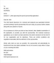 Sponsorship Letter Approval Sponsorship Letter 7 Free For Word