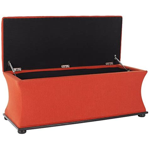 orange storage bench orange storage bench tangerine coral